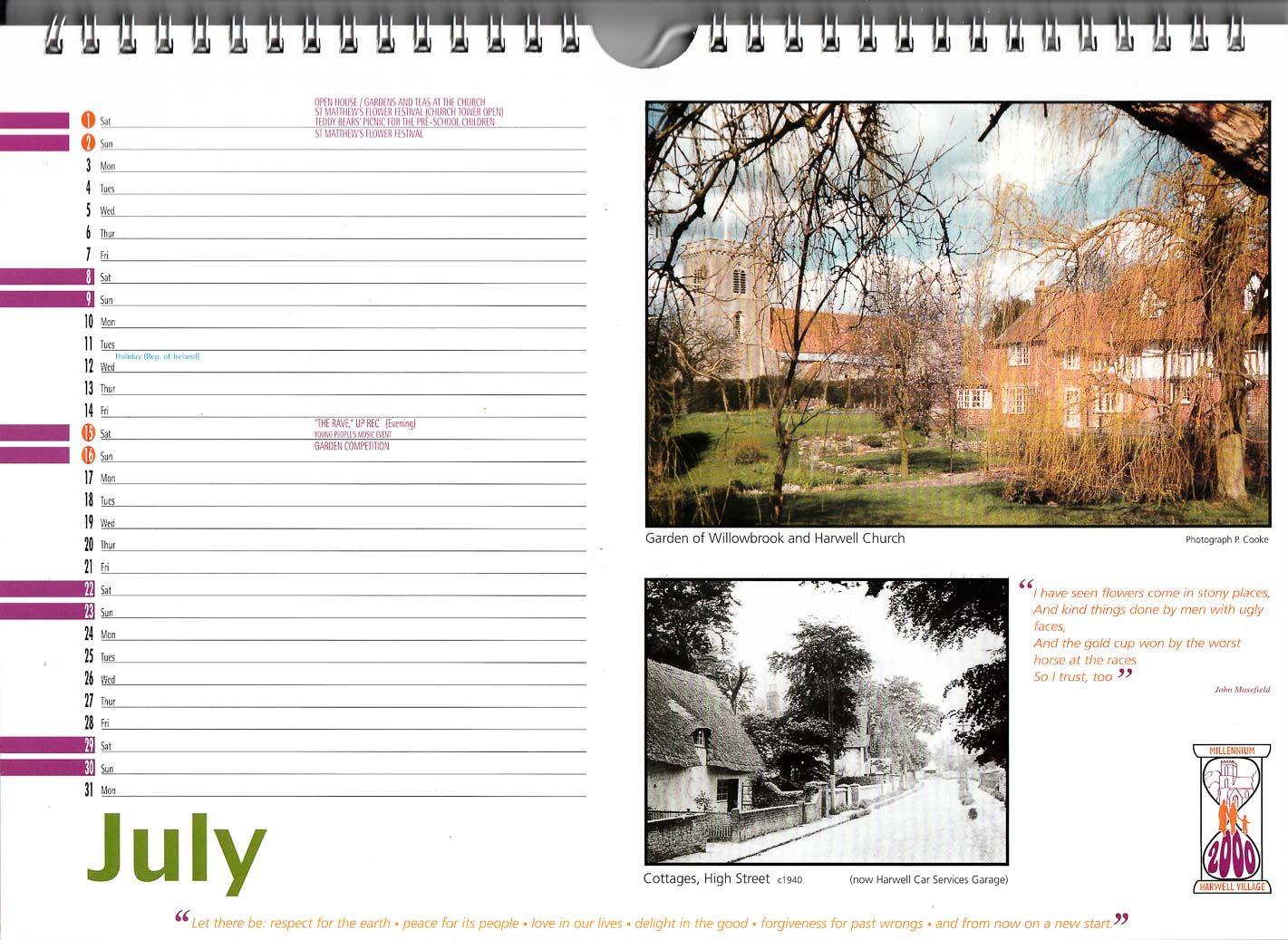 Harwell Millenium Calendar ~ 2000