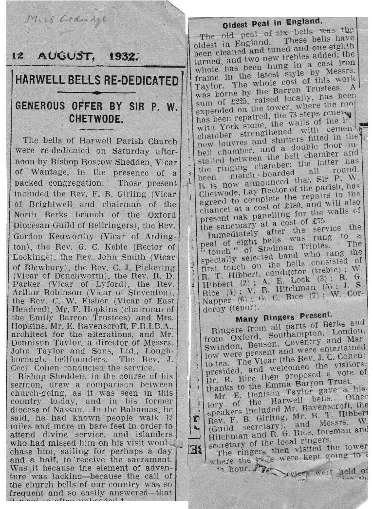 Bells Article 1932