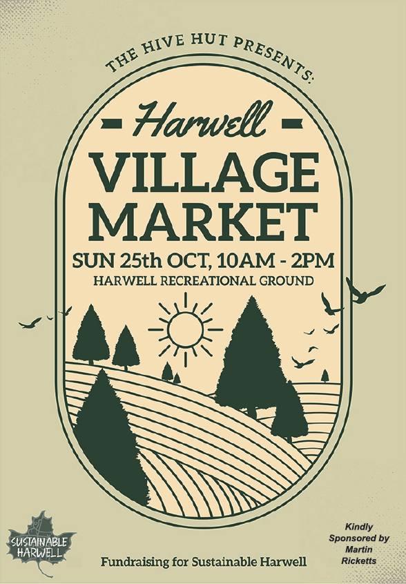 Poster for village market, 25 Oct 2020